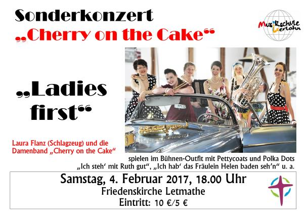 Cherry on the Cake in der Kirche